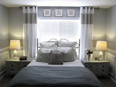How Much Does It Cost To Remodel A Small Bedroom and Master Bedroom Remodel Pictures. Small Master Bedroom, Home Bedroom, Bedroom Decor, Bedroom Ideas, Bedroom Designs, Gray Bedroom, Bedroom Inspiration, Modern Bedroom, Bedroom Windows