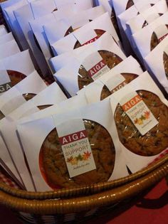 Bake Sale Cookie Packaging   . Very simple package design for cookies at a Fall themed bake sale ...