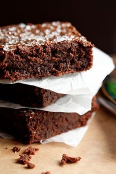 Sweet and Salty Brownies. They really are everything a brownie should be; rich, decadent, fudgy, and chocolaty. As if this wasn't enough, the salted caramel center is so good that it may bring you to tears.