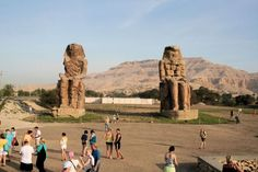 Colossi of Memnon - Travel Packages to Egypt http://www.maydoumtravel.com/Egypt-Travel-and-Tour-Packages/4/0/