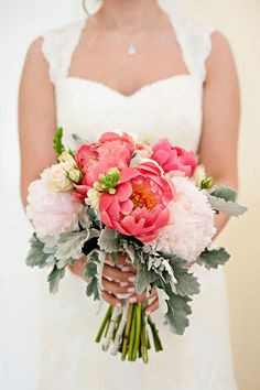 Real Wedding at Kentlands Manion |  Brooke Bready Photography    #pink, #roses