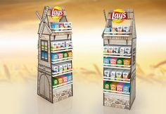 Lays mill display on Behance Pos Design, Retail Design, Branding Design, Window Display Design, Pos Display, Product Display, Makeup Display, Point Of Purchase, Marketing Materials