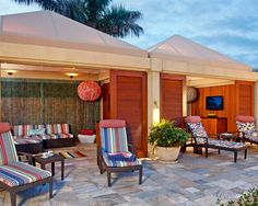 Four Seasons Maui luxury cabana - yeah, booked us one of these for our last full day there!!!