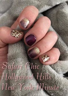 Color Street Nail Polish Strips Safari Chic Hollywood Hills New York Minute - Color Street Nail Polish Strips Safari Chic Hollywood Hills New York Minute - Safari Chic, Nail Polish Strips, Nail Polish Colors, Gel Polish, Hollywood Hills, Garra, Nail Time, Dipped Nails, Color Street Nails