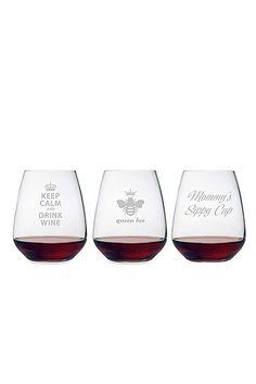 Stemless Mommy Wine Glasses