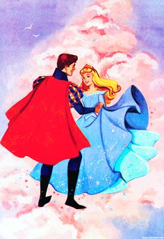 "mickeyandcompany: "" You'll love me at once. The way you did once upon a dream. (from Dell Giant Sleeping Beauty "" Disney Magic, Film Disney, Disney Animated Movies, Disney Kunst, Disney Couples, Disney Fan Art, Disney Movies, Disney Characters, Retro Disney"