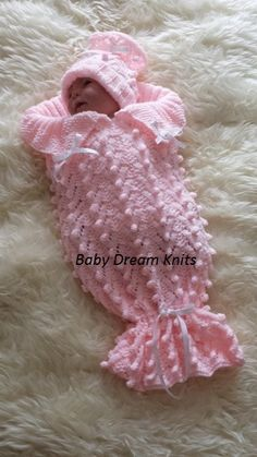 Bobbles Cacoon Baby/Reborn Pattern to fit by Patsknittedcreations, £2.99