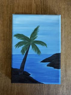 Diy canvas art 155303887194306880 - Oceanside Palm Tree Acrylic Painting Source by etsy Small Canvas Paintings, Easy Canvas Art, Small Canvas Art, Easy Canvas Painting, Simple Acrylic Paintings, Mini Canvas Art, Cute Easy Paintings, Diy Canvas, Art Painting Gallery