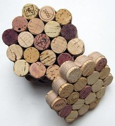 Round up all of the corks into a desired size for the coaster. Using a hot glue gun, glue each cork to the other in a circular shape  then glue the ribbon of your choice to hold them all together and to serve as the finishing touch. So easy!