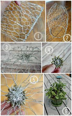 This simple DIY Wire Cloche adds eclectic charm to the home. Perfect for decorating the patio with as well  |  View From The Fridge for OHMY-CREATIVE.COM