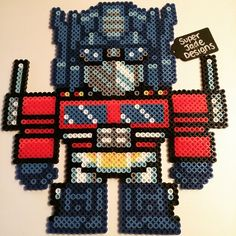 Optimus Prime - Transformers perler beads by SuperJade Designs