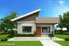 This Two Bedroom Small House Design has a total floor area of 61 square meters that can be built in a 134 square meters lot area. if you have a lot width of 10 meters and 16.7 meters depth, this de…