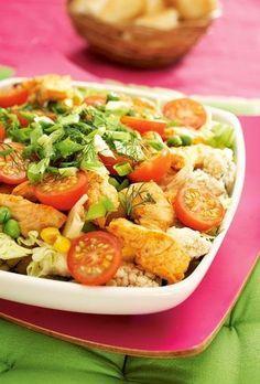 Broileri-vihannessalaatti | K-ruoka Finnish Recipes, Cooking Recipes, Healthy Recipes, Healthy Food, Greens Recipe, Pasta Salad, Potato Salad, Good Food, Food And Drink
