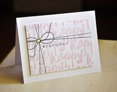 Birthday Gift Card by Maile Belles for Papertrey Ink (June 2014)