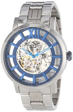 Men's Wrist Watches - Kenneth Cole New York Mens KC9209 Transparency Automatic Roman Numeral Transparent Dial Watch * Read more at the image link.