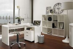 Omega Curved Home Office Desk  With a splash of colour this would be amazing!