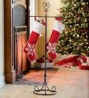 Metal Stocking Hanger With Heart Finial