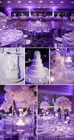 white wedding  we ❤ this!  moncheribridals.com  #weddingtablescapes  #whitewedding