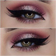 Imagem de makeup, eyes, and pink