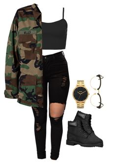 """""""Untitled #463"""" by tdgaaf on Polyvore featuring Topshop, Modström, Timberland, Nixon and Sunday Somewhere"""