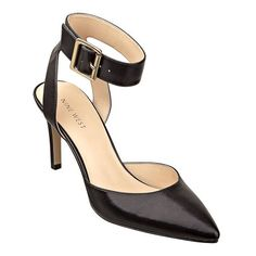 """As seen in the August/September issue of Fit Pregnancy and September's W Magazine.....Pointy toe pump with ankle strap closure.  3 1/4"""" heel."""