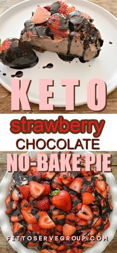 May 2020 - Are you in for a delicious treat with the Keto No-Bake Chocolate Strawberry Pie. This cheesecake is so easy to make and it's also good for you. It's sugar-free, grain-free, low in carbs, and keto-friendly. Make this one today! Low Carb Sweets, Low Carb Desserts, Atkins Recipes, Keto Recipes, Dinner Recipes, Cooking Recipes, Chocolate Strawberry Pie, Strawberry Cheesecake, Keto No Bake Cheesecake