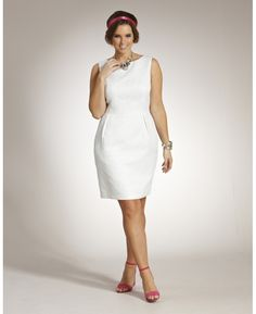 Jacquard Tulip Dress at Simply Be I love this little simple look...