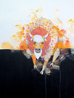 'Bison in Dust' painting by Michael Cain- Gnashing Teeth (gnashingteeth)