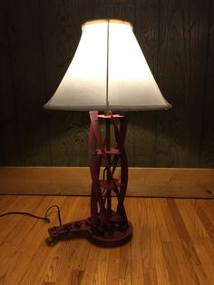 Made lamp from old lawn mower