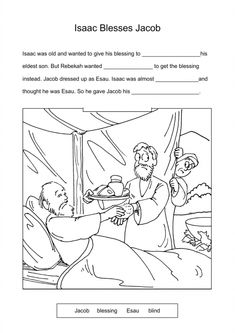 9 Jacob Amp Esau Worksheets And Coloring Pages ️ History