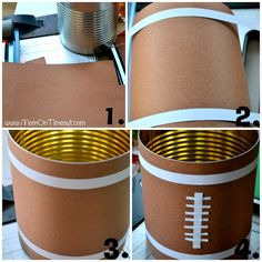 Football & Field Party Cans - Mom On Timeout