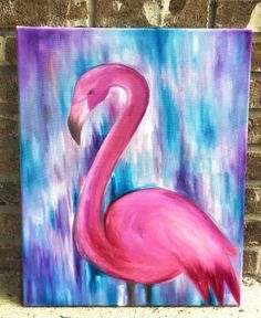 Flamingo Art Original Oil On Canvas Painting Fine Art Painting Colorful Modern Wall Art Nursery Wall Art Gift For Loved One Fantasy Art Flamingo Art Pink Flamingo Oil Canvas Art Easy Canvas Painting, Diy Canvas Art, Painting & Drawing, Canvas Canvas, Flamingo Painting, Flamingo Art, Fantasy Paintings, Fantasy Art, Nursery Paintings