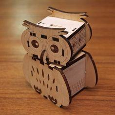 Sticks - owls rotating music box