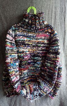 Sweater con restos de lana