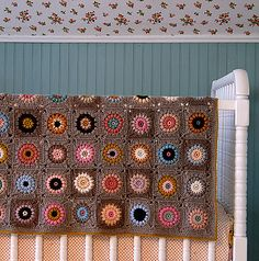 sunshine day afghan.  love this---just have to make peace with weaving so many ends