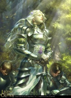 She would be a great holy warrior, healing her allies and calling down retribution on her enemies.