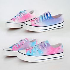 "Harajuku galaxy gradient hand-painted shoes  Coupon code ""cutekawaii"" for 10% off"