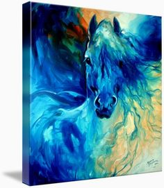 equus blue ghost by marcia baldwin shreveport louisiana from my abstract equine originals this oil painting is captured here for your fine art