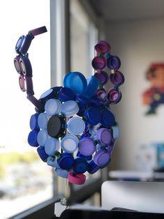 Tête de Stitch en bouchons recyclés - jeu écologique de construction