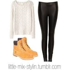 Winter outfit with timberland boots.