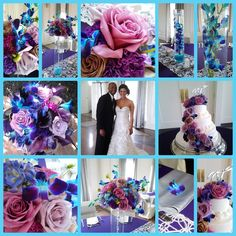 Purple Blue Wedding Colors Blue And Purple Wedding Flowers With Butterflies Divine Designs By