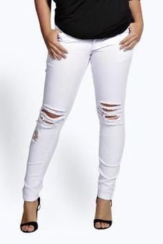 b93d6e41227 Plus India Ripped Knee Jean at boohoo.com Camo Skinny Jeans