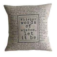 personalised lyrics cushion by vintage designs reborn | notonthehighstreet.com