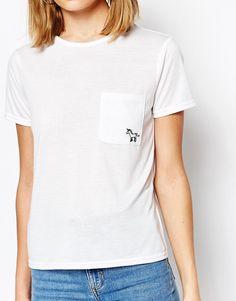 Imagen 3 de Camiseta con bordado de unicornio de Daisy Street