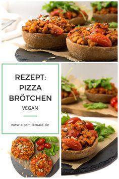 Wenn es schnell gehen muss, sind vegane Pizzabrötchen deine Rettung. Im Nullkommanichts vorbereitet sind sie quasi gesundes und veganes Fast Food.