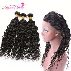 Hair Extensions & Wigs Confident Brazilian Straight Human Hair Bundles With Lace Frontal Closure Preplucked Ear To Ear Lace Frontal Closure With Bundles Alipearl Refreshing And Beneficial To The Eyes
