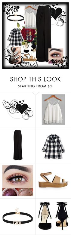"""Roses and Hearts (Plaid and Black)"" by disfunctionalqueen ❤ liked on Polyvore featuring Alexander McQueen, TIBI and Nine West"