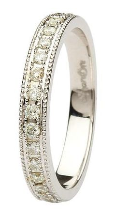 ShanOre Aishlin White Gold Collection Ladies Celtic wedding band with diamonds