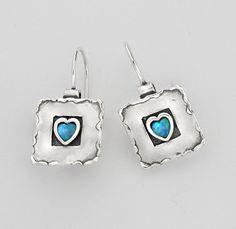 Shablool Didae Israel Designed Hoop With Cabochon Stone Opal Blue Shape