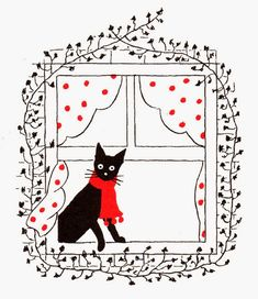"""Japanese Embroidery Tiger atelier pour enfants: """"Jenny and the Cat Club"""" Crazy Cat Lady, Crazy Cats, Illustrations, Illustration Art, Black Cat Art, Black Cats, Photo Chat, Japanese Embroidery, Cat Drawing"""